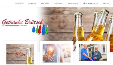 Neue Website Getränke Brütsch!